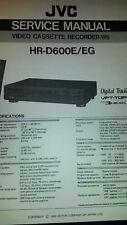 Service Manual Serviceanleitung JVC HR-D600 E/EG