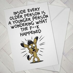 Image Is Loading FUNNY BIRTHDAY CARD Cheeky Naughty Age Older Friend
