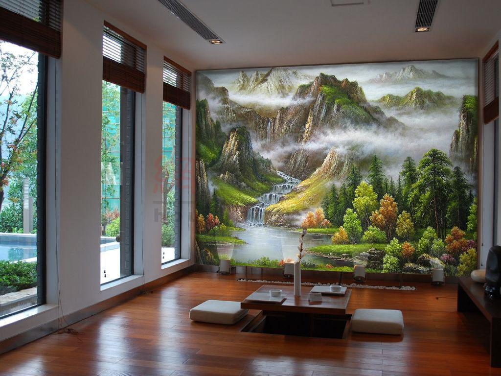 3D Hills Jungle Fog 7 Wall Paper Murals Wall Print Wall Wallpaper Mural AU Carly