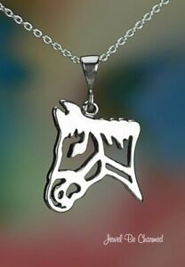 Ship FREE Silhouette HORSE Sterling Silver Head Charm