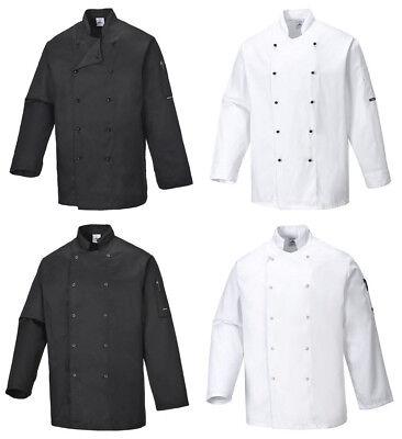 Unisex Gastronomie Kochkleidung kurzarm knitterfrei Kochjacke Küchenmeister