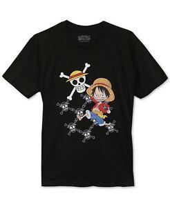 One-Piece-Men-039-s-T-Shirt-Black-Size-Medium-M-Graphic-Crewneck-Tee-20-253