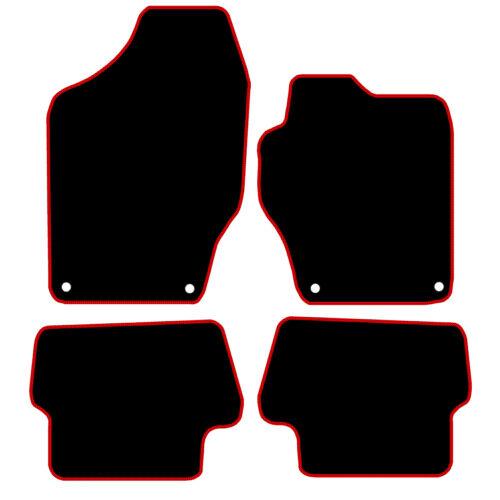 Tailored Black Car Floor Mats Carpets Peugeot 308 2007-2013 Blue or Red Edging