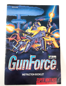 Gun Force GUNFORCE Super Nintendo SNES Instruction Manual Booklet RARE!