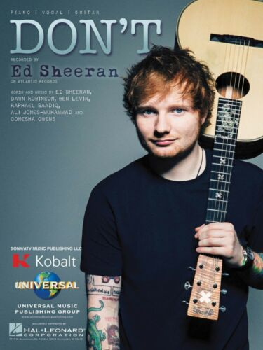 Don/'t Sheet Music Piano Vocal Ed Sheeran NEW 000141183