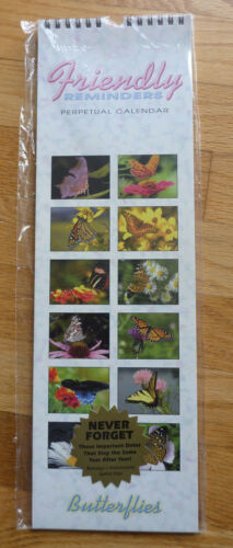 Perpetual Birthday And Anniversary Calendar Butterflies