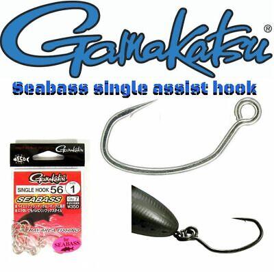 1476 Gamakatsu Single Hook 56 Seabass Plugging Lure Hook Size 3
