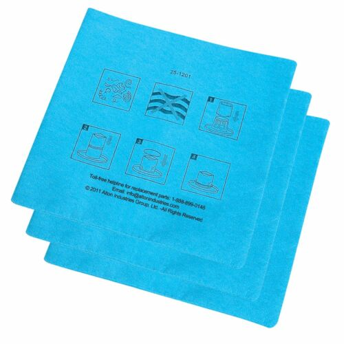 3-Pack Stanley 25-1217 Reusable Dry Filter for 1-5 Gallon Wet//Dry Vacuum
