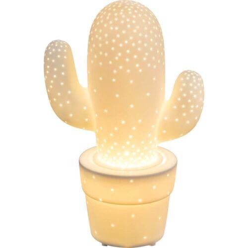 Tischleuchte Porzellan Kaktus Kabel 1,8 m weiß matt Big.Light