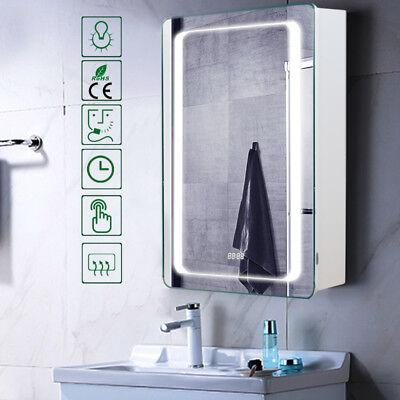 Vertical Demister Bathroom LED Illuminated Cabinet Light Shaving Make Up Mirrors