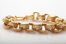 Designer Signed MILOR ITALY $3000 14k Yellow Gold FANCY LINK BIG Bracelet RARE