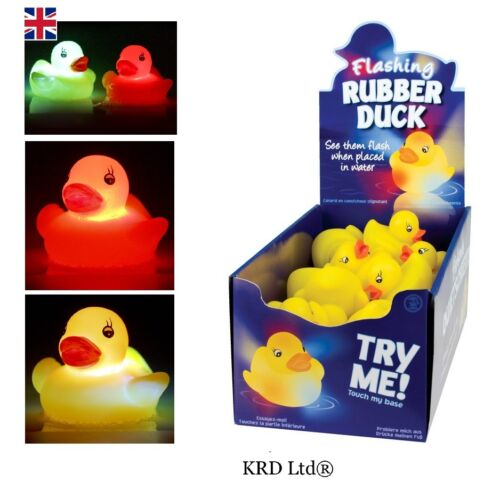 1 x FLASHING BATH DUCKS Baby Toddler Toy Bathtime Colour Changing Rubber Duck UK