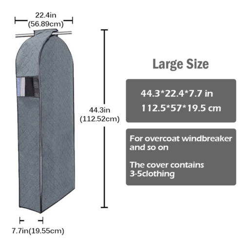Coat Wardrobe Storage Garment Suits Bag Clothing Cover Hanging Dust Protector