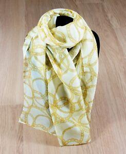 Women-039-s-Gold-Chain-Print-Soft-Chiffon-Print