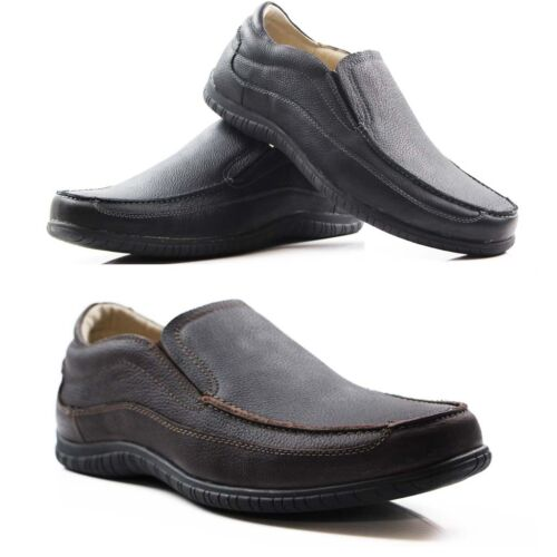 BLACK LEATHER CASUAL WORK SHOES NEW MENS HUSH PUPPIES INSTITUTE MEN'S BROWN
