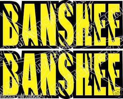 Banshee yamaha Decals Yellow FULL COLOR Stickers Graphics 14pc ATV QUAD
