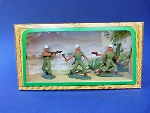 STARLUX-Ancienne-boite-3-soldats-de-la-legion-54mm-plastic-toy-soldier-FFL