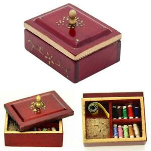 1-12-Sewing-box-miniature-Scale-quality-for-dollhouse-miniature-wood