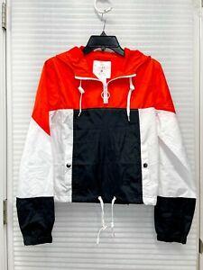 Zine Women's Amma Colorblock Windbreaker Pullover Jacket Size Small - NWT