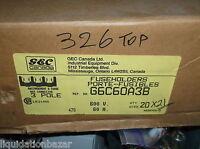 Gec G6c60a3b 600v 60a 3p Fuse Holder Box Connector Each Large Qty Box