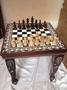Square-Chess-Board-Table-HandCarved-Elephant-Inlaid-Work-Rosewood-Table-Foldable