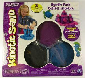Kinetic Sand 3 Color Bundle Pack Blue Purple