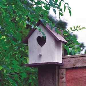 Complexé 2 X En Bois Cœur D'amour Hart Nichoir Oiseau Maison Pour Petits Sauvages Haute RéSilience