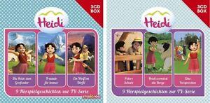 6 CDs * HEIDI HÖRSPIEL BOX (CGI) 1 + 2 IM SET - ZUR TV-SERIE