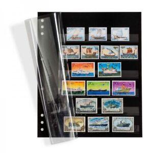 Leuchtturm-346722-Einsteckblaetter-OMEGA-schwarzer-Karton-mit-6-Klarsichtstrei