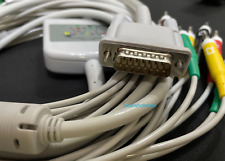 Hp Philips M1770am1771a Aha 15 Pin 12 Lead Ekg Cable Iec Banana 40 Compatible