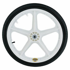 Northern Poly Wheel and Tire for Garden Carts-20in White Spoked #W01-026-0008