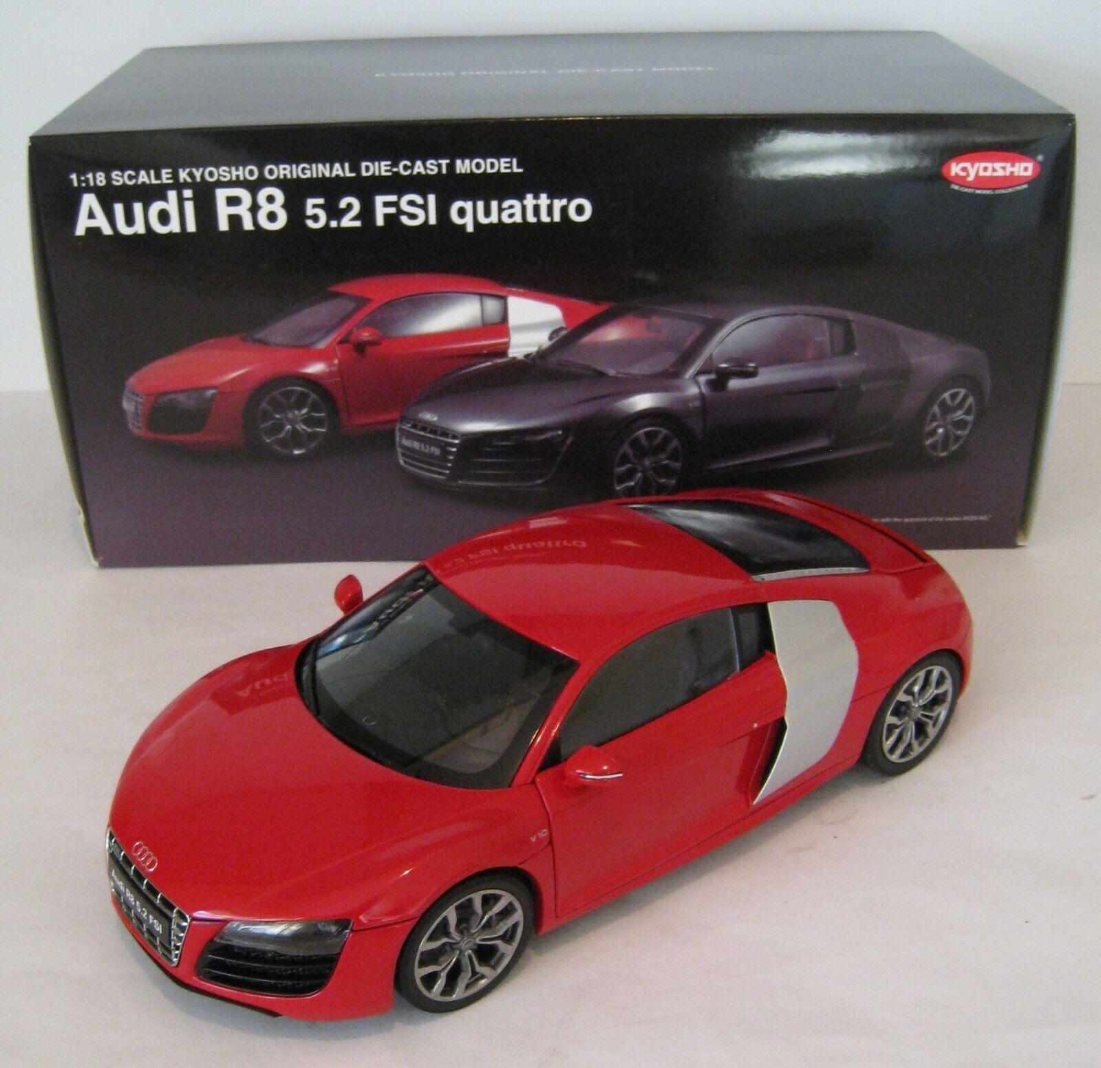 Audi R8 5.2 FSI quattro in Brilliant Red  Kyosho  Maßstab 1 18  OVP  NEU