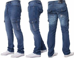 Enzo-Designer-Mens-Regular-Fit-Jeans-Straight-Leg-Denim-Trousers-Pants-All-Waist