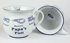 Papa´s Pott m. Seemannsknoten bauchig Becher Kaffeetasse Kaffeepott