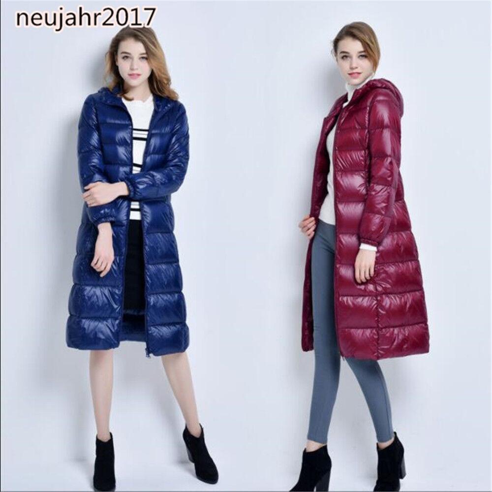 2019 Neu Daunenjacke Damännermode Winterjacke Kapuzejacke glänzend Mantel Coat