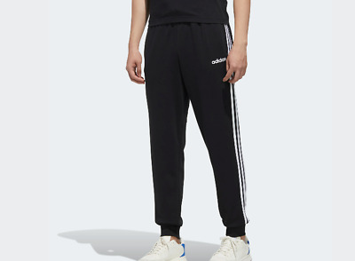 PANTALONI TUTA ADIDAS UOMO DU0468 3 STRIPES PANTS MOLLA ESSENTIALS TAPERED NERO | eBay