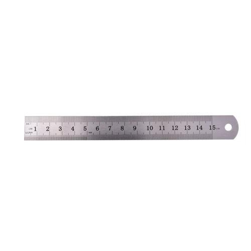 1PC Metric Rule Precision Double Sided Measuring Tool  15cm Metal Ruler B* AE