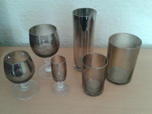 Gläserset Rauchglas 36tlg. Glas Gläser Trinkglas OVP nie benutzt