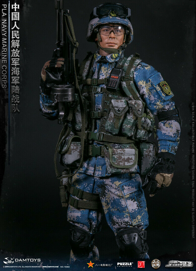 DAMTOYS 1 6th PLA NAVY MARINE CORPS Male Solider Action Figure 78068