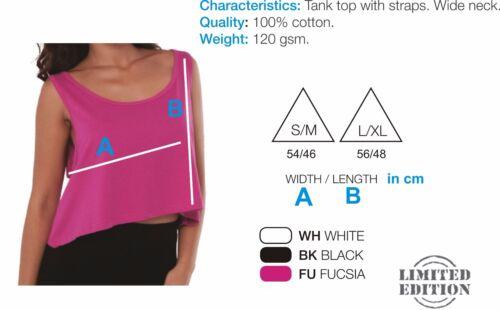 Femme Femmes Filles BARBIE T Shirt Tank Top Gilet Crop Top 3//4 Rose Noir Blanc