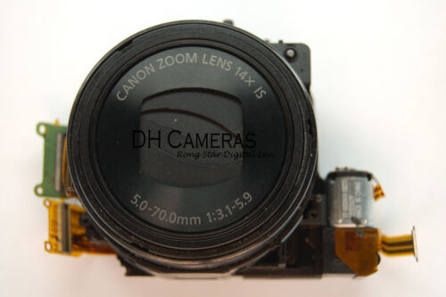Canon PowerShot SX230 HS Lens Unit Assembly + CCD Replacement Part Black A0477