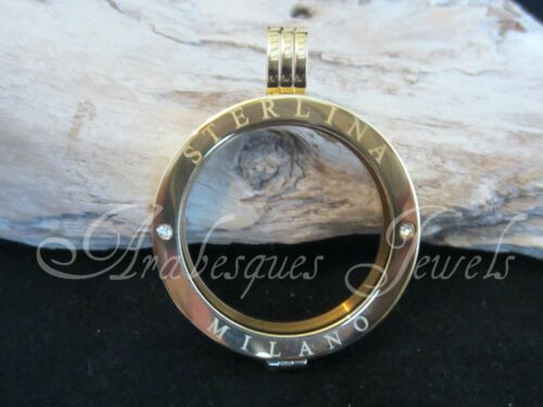 Pequeña Original Sterlina mi Milano coin//moneda para necklace//keeper Cristal ajmm