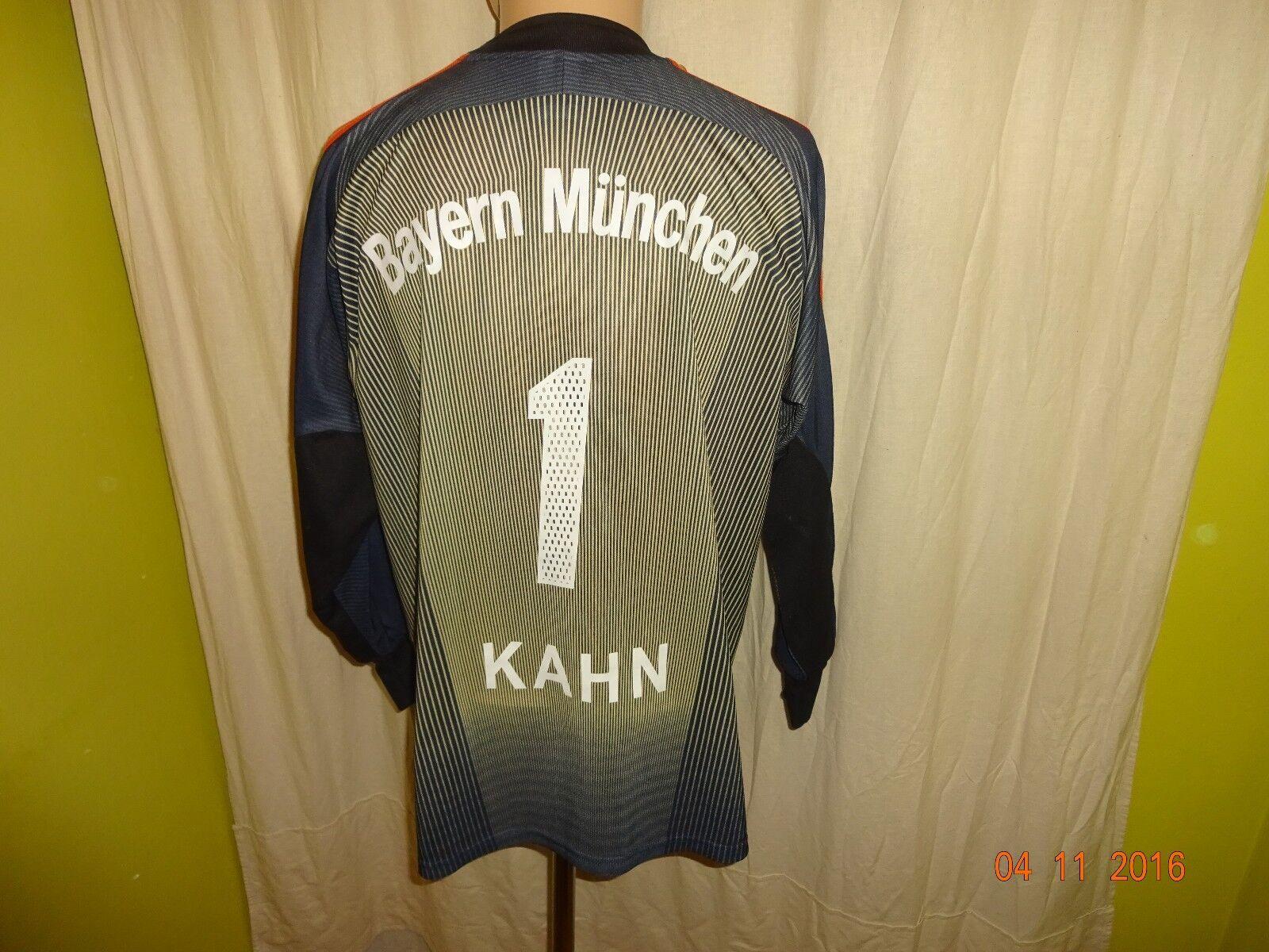 FC Bayern München Adidas Adidas Adidas Torwart Trikot  -T---Mobile-  + Nr.1 Kahn Gr.S- M TOP f47c0e