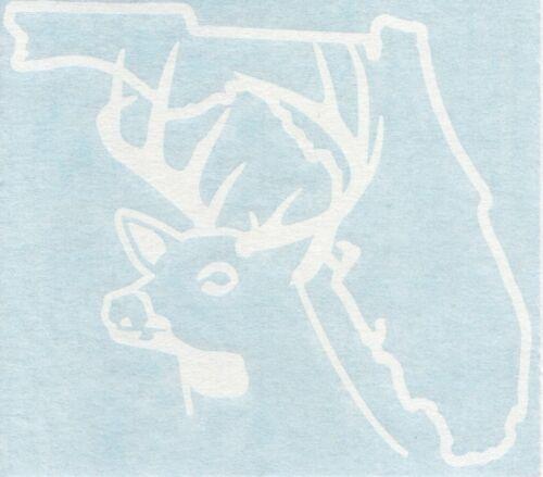 Florida Deer Hunter Hunting Season Outdoor Car Window Vinyl Decal Sticker 01214