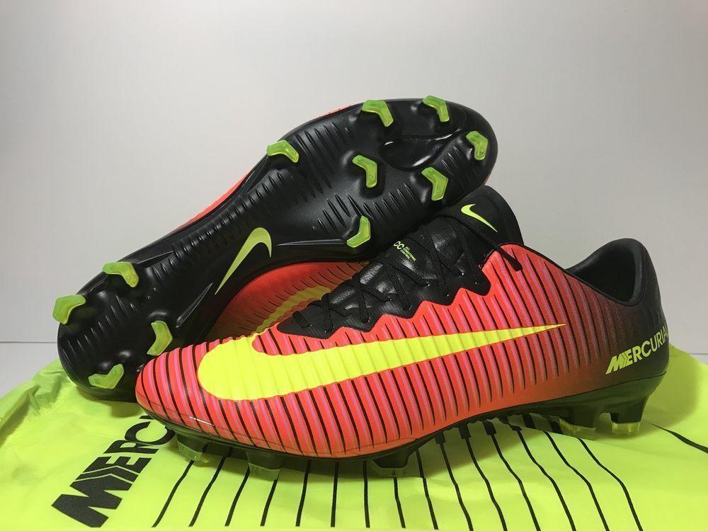 Nike volubile vapore xi xi vapore fg totale da rosa nero rosso cremisi sz 12 a33346