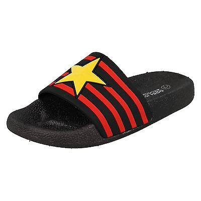 CHILDRENS UNISEX REFLEX SLIP ON SUMMER MULES SLIDERS SANDALS H0251