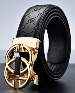 New-Men-039-s-Belt-Genuine-Leather-Luxury-Designer-Strap-Automatic-Buckle-Fashion
