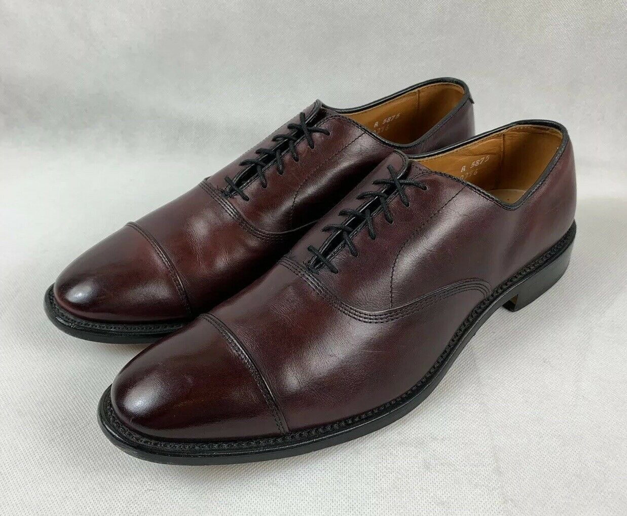 Allen Edmonds Park Avenue Oxblood Cap-Toe Oxfords Size 11 A