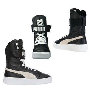 e72e4b00971b Puma Platform Womens Boots Lace Up Trainers Leather Black 364089 02 ...
