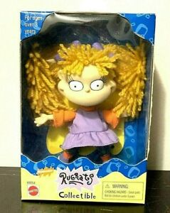 Nickelodeon Rugrats Angelica Doll Collectible Yellow Yarn Hair Mattel VTG 1998